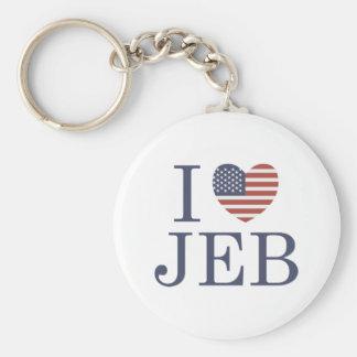 I Love Jeb Basic Round Button Key Ring