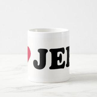 I LOVE JEFF BASIC WHITE MUG