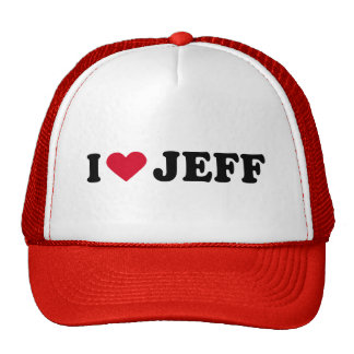 I LOVE JEFF MESH HAT