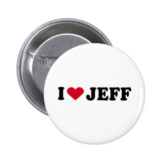 I LOVE JEFF PINBACK BUTTON