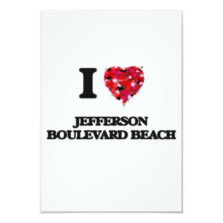 I love Jefferson Boulevard Beach New York 9 Cm X 13 Cm Invitation Card
