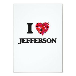I love Jefferson New Jersey 13 Cm X 18 Cm Invitation Card