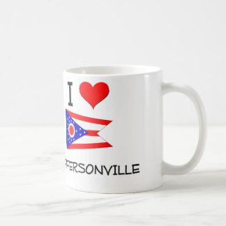 I Love Jeffersonville Ohio Basic White Mug
