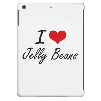 I Love Jelly Beans artistic design iPad Air Case