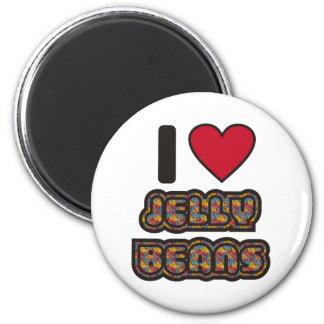 I love Jelly Beans 6 Cm Round Magnet