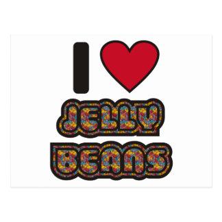 I love Jelly Beans Postcard