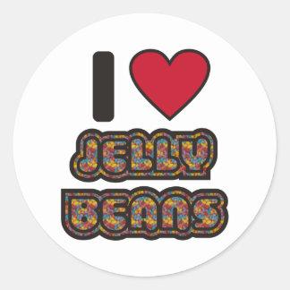 I love Jelly Beans Round Sticker