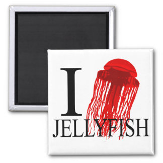 I Love Jellyfish Magnets