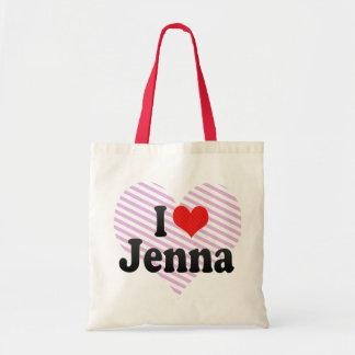 I Love Jenna Canvas Bags
