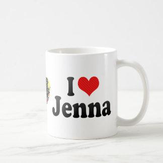 I Love Jenna Basic White Mug
