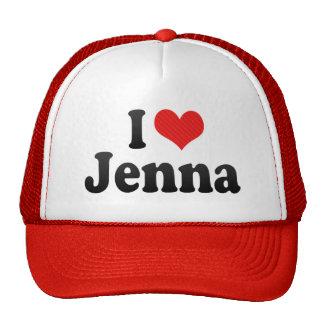 I Love Jenna Trucker Hats
