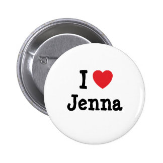 I love Jenna heart T-Shirt Pins