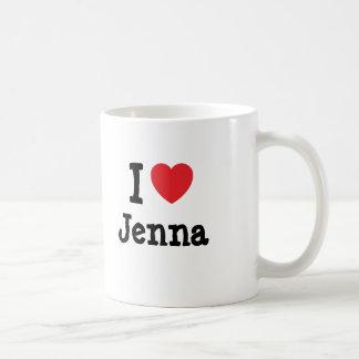 I love Jenna heart T-Shirt Basic White Mug