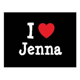 I love Jenna heart T-Shirt Postcards