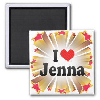 I Love Jenna Magnets
