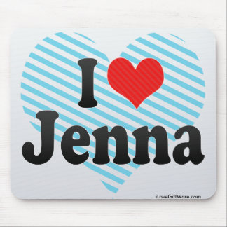 I Love Jenna Mouse Pad