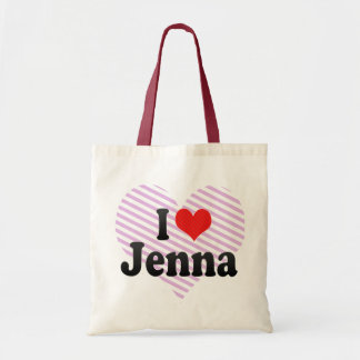 I Love Jenna Canvas Bags