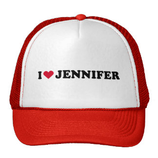 I LOVE JENNIFER MESH HATS