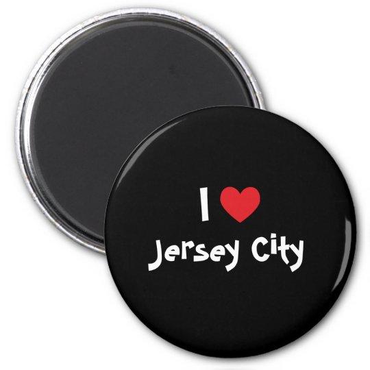 I Love Jersey City 6 Cm Round Magnet