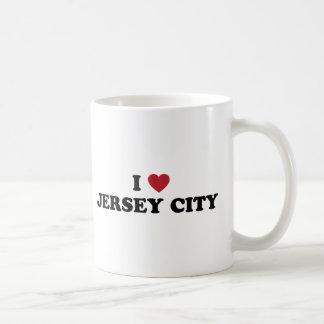 I Love Jersey City New Jersey Basic White Mug