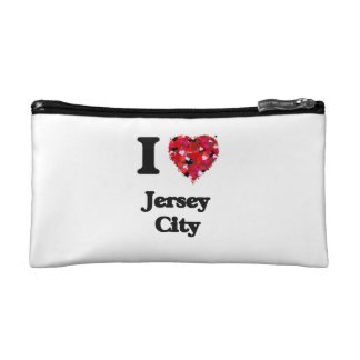 I love Jersey City New Jersey Makeup Bags