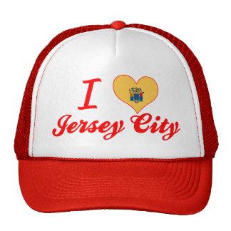 I Love Jersey City New Jersey Trucker Hat
