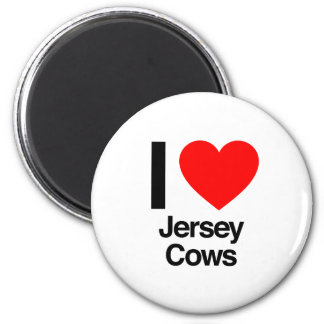 i love jersey cows refrigerator magnets