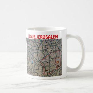 I LOVE JERUSALEM BASIC WHITE MUG