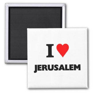 i love jerusalem square magnet