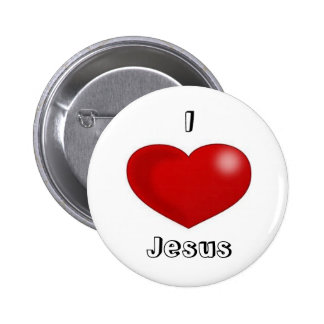 I Love Jesus Pinback Buttons