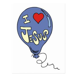 I Love Jesus Balloon Post Cards