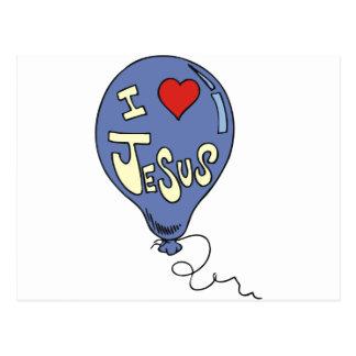 I Love Jesus Balloon Postcards