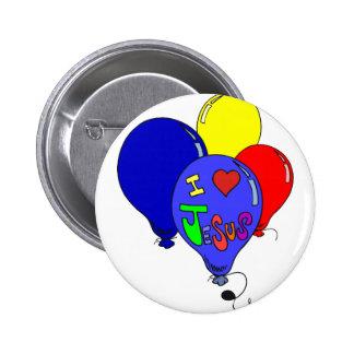 I Love Jesus Balloons 6 Cm Round Badge