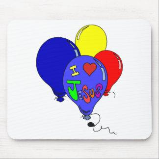 I Love Jesus Balloons Mousepads