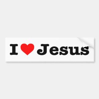 """I LOVE JESUS"" BUMPER STICKER"