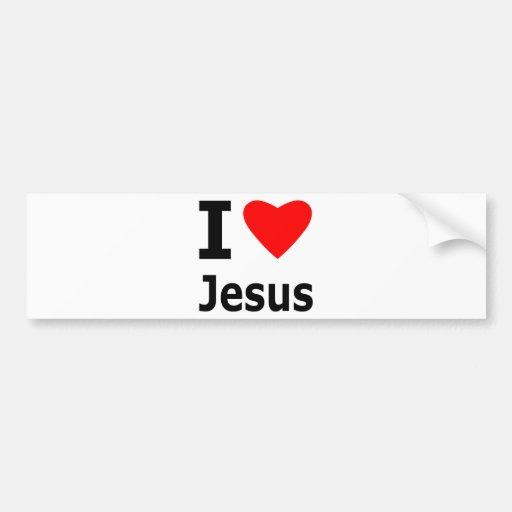 I Love Jesus Bumper Stickers
