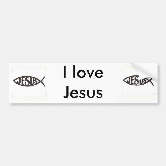 I love Jesus Bumpersticker Bumper Sticker