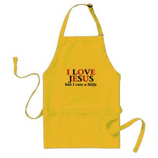 I Love Jesus [but I cuss a little]. Aprons
