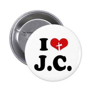 I Love Jesus Christ 6 Cm Round Badge