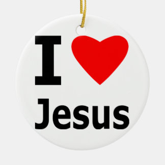 I Love Jesus Christmas Ornament