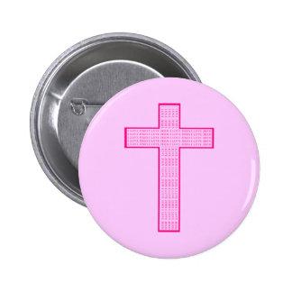 I Love Jesus Cross Button