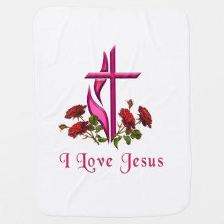 I love Jesus gifts Pramblanket