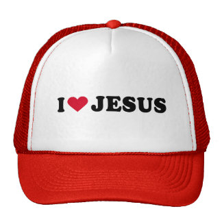 I LOVE JESUS MESH HATS
