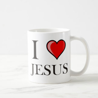 I Love Jesus Coffee Mugs