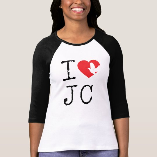 I love Jesus shirt with coloured sleeves