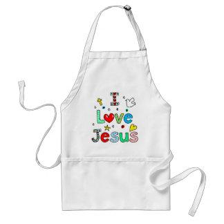 I Love Jesus Standard Apron