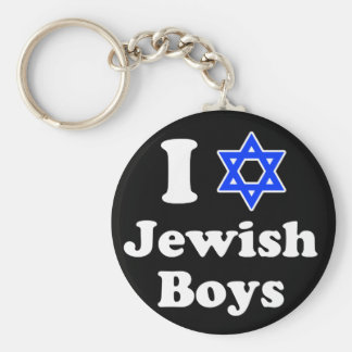 I Love Jewish Boys Basic Round Button Key Ring