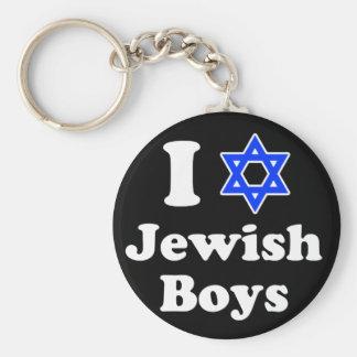 I Love Jewish Boys Key Ring