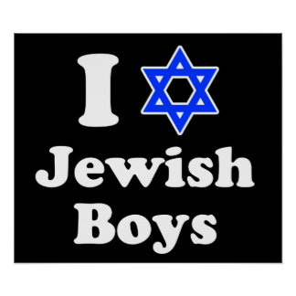 I Love Jewish Boys Poster