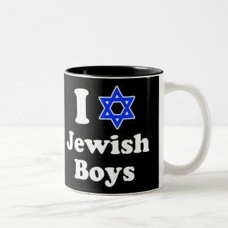 I Love Jewish Boys Two-Tone Mug